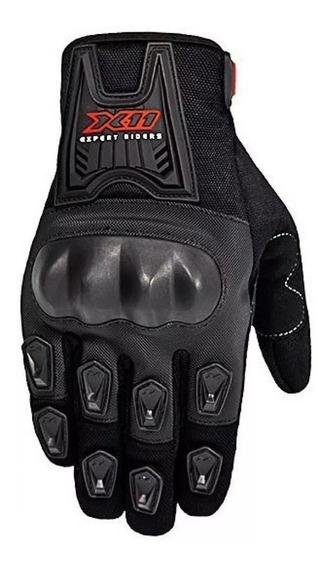 Luva Moto X11 Blackout Masculina Proteção