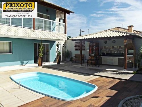 Imagem 1 de 28 de Casa 6 Quartos Sendo 2 Suítes, 4 Vagas, Piscina, Na Praia Do Morro - Ca00137 - 33563402