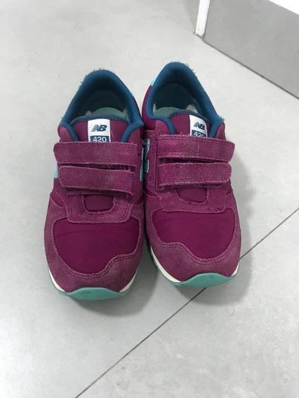 Zapatillas Para Nena New Balance - Excelente Estado!!