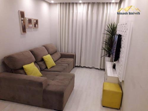 Apartamento Com 3 Dormitórios À Venda, 70 M² Por - Jardim Flor Da Montanha - Guarulhos/sp - Ap0404