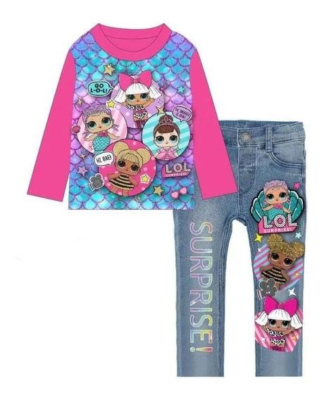 Pijama Jeans Lol Surprise (2 A 7 Años)