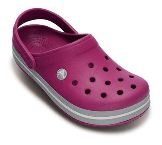 Sandalia Crocs Crocband Mujer Viola Light Grey Original