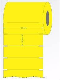 1000 Etiquetas Gondola Impressora Argox Amarela