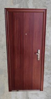 Puerta Seguridad Multianclaje Semi Blindada Chapa 18