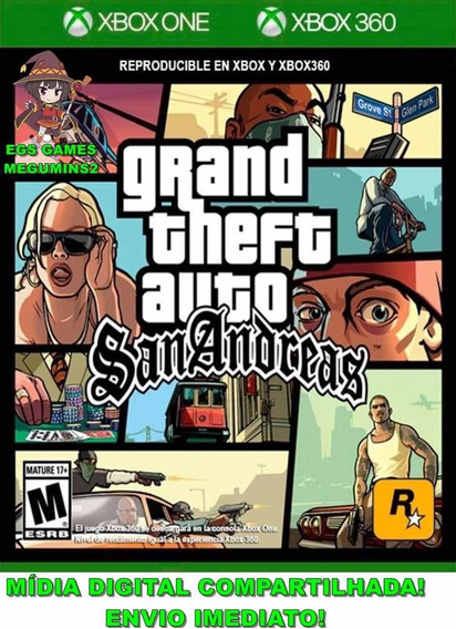 Gta San Andreas Xbox 360/one Mídia Digital