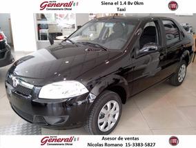 Fiat Nuevo Siena El 1.4 0km 2017 Taxi Negro #ca1