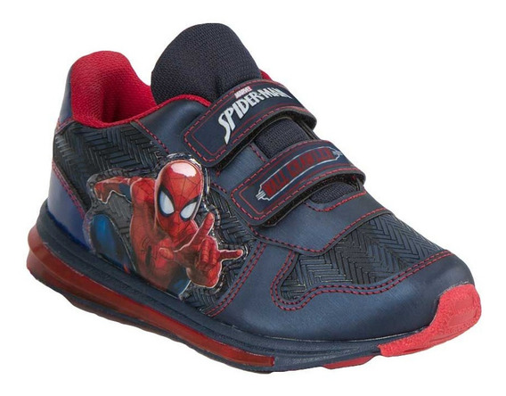 Tenis Casual Niño Spiderman 2722 Color Azul
