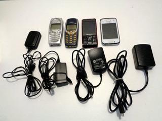 Lote C/ 4 Celulares Antigos Nokia Samsung Mox Vendidos No Estado