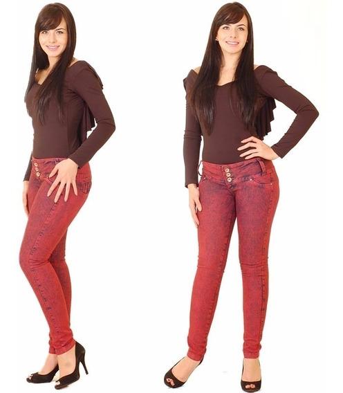 Calça Jeans Mr X Stretch Azul E Vermelha Linda! #zuz