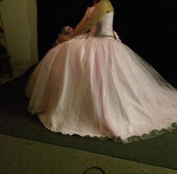 Vestido Xv Años Color Rosa Pastel - Brilla En La Noche