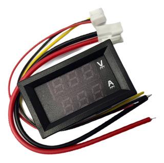 Voltimetro Amperimetro De Panel 99.9v 10a Display Rojo Azul