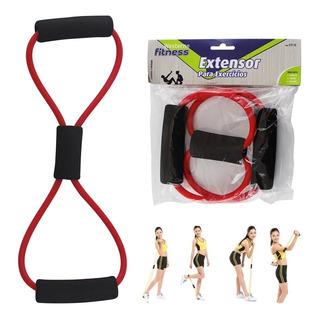 Elástico Extensor Exercícios Fitness P/ Ombros Costas Braços