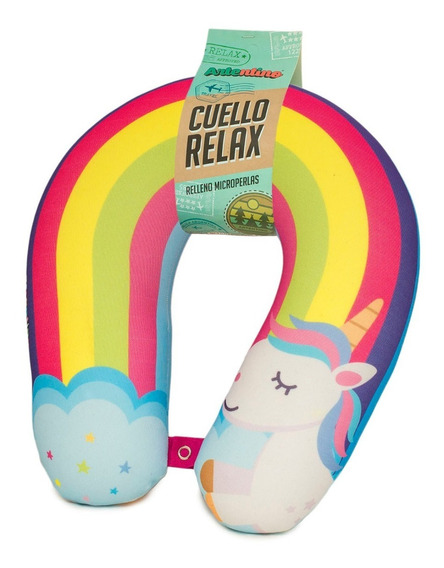 Almohada Cuello Viaje Relax Regalo Vacaciones Unicornio Nena