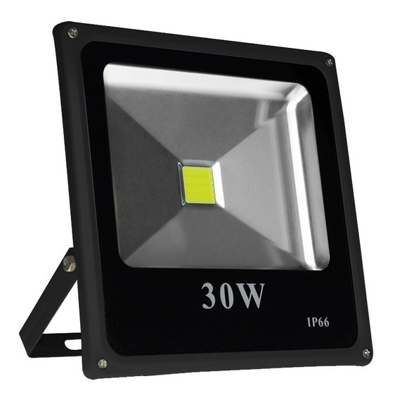 Kit 5 Refletor Holofote Led Slim 30w Branco Frio Ip66 Loja