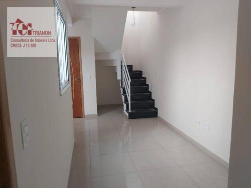 Imagem 1 de 15 de Cobertura C/ 90 M² - Sem Condomínio - 2 Dormitórios (1 Suíte), 1 Vaga - À Venda Por R$ 350 - Vila Pires - Santo André/sp - Co0945