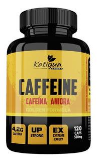 Cafeina Anidra 500mg 120 Cápsulas - Katiguá + Brinde