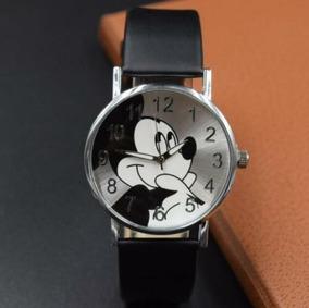 Relógio Disney - Com O Rosto Do Mickey - Preto