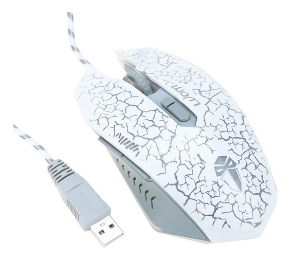 Modo Gaming Mouse Para Pc Laptop Desktop Branco C2475w