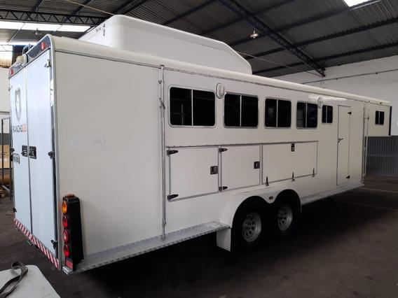 Trailer 5º Roda Para Transporte De Cavalos Com Apartamento