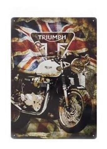 Placa Decorativa Triumph Thruxton