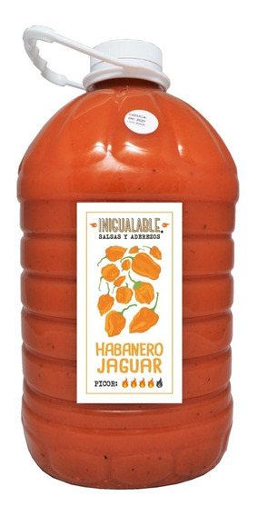 Inigualable Salsa Alitas - Habanero Jaguar- 1 Garrafa 3.78 L