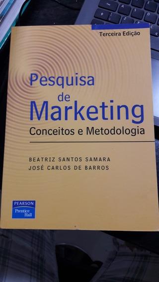 Livro Pesquisa De Marketing Conceitos E Metodologia