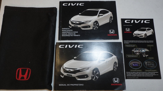 Manual Honda Civic 2017 2018 Original G10 Ex Exl Sport Turbo