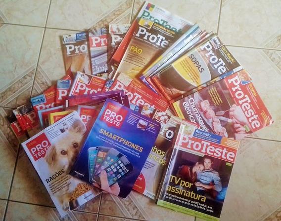 Coleção Pack Revistas Proteste Da Ass. Bras. De Consumidores
