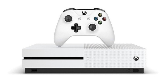 Xbox One S 1tb Slim Branco Controle Original Novo P2 + Nfe