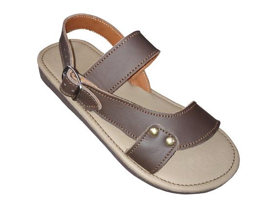Sandalias De Piel Para Descanso, Confortables, Dama, Pl19