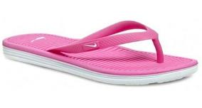 Chinelo Feminino Nike Solarsoft Thong Rosa Original- Footlet