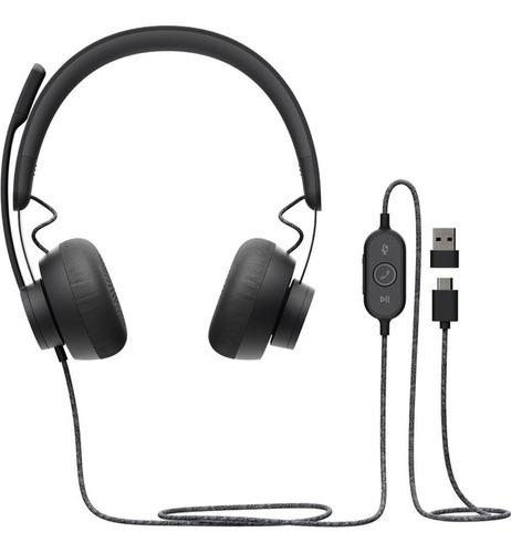 Audifono Con Microfono Logitech Zone Wired Usb-c