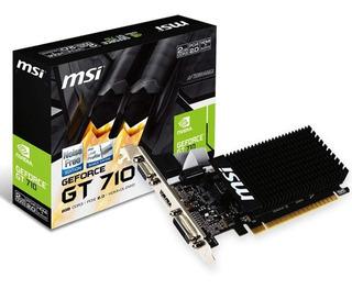 Tarjeta Grafica De Video Msi Gt710 Nvidia 1gb Ddr3 Hdmi Vga