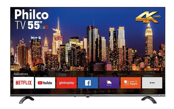Smart Tv Led 55 Polegadas Philco Ultra Hd 4k Hdr