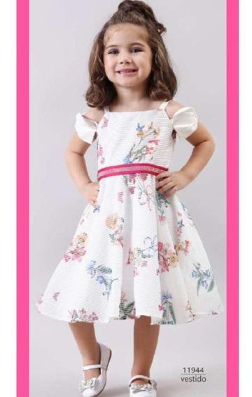 Vestido Festa Infantil Flores Bambollina