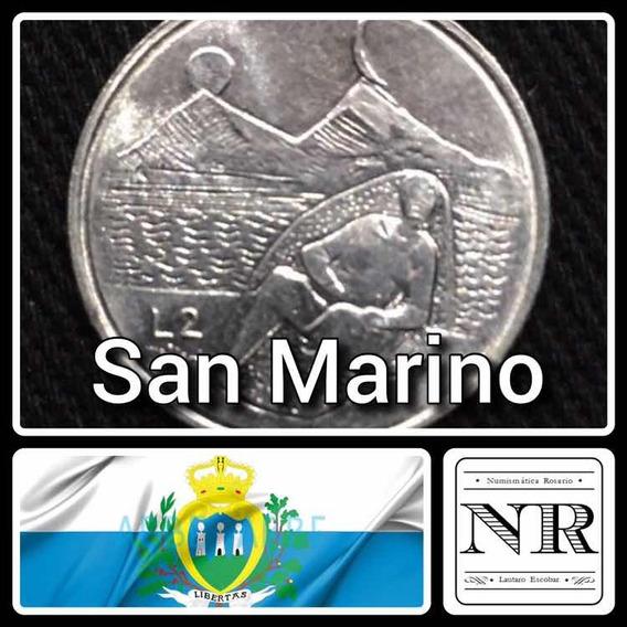 2 Liras - San Marino - Año 1976 - Km# 52 - Auminio