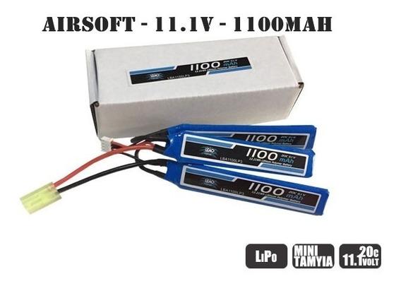 Bateria Airsoft Lipo 3s 11,1v 1100mah 20/40c Leão Nano Gens