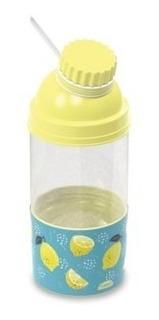 Garrafa Água Suco Fitness Plast Compart. - P7877