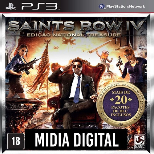 Ps3 Psn* - Saints Row 4 Iv National Treasure Edition