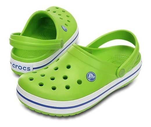 Crocs Crocband Originales Vt Green Varsity Blue