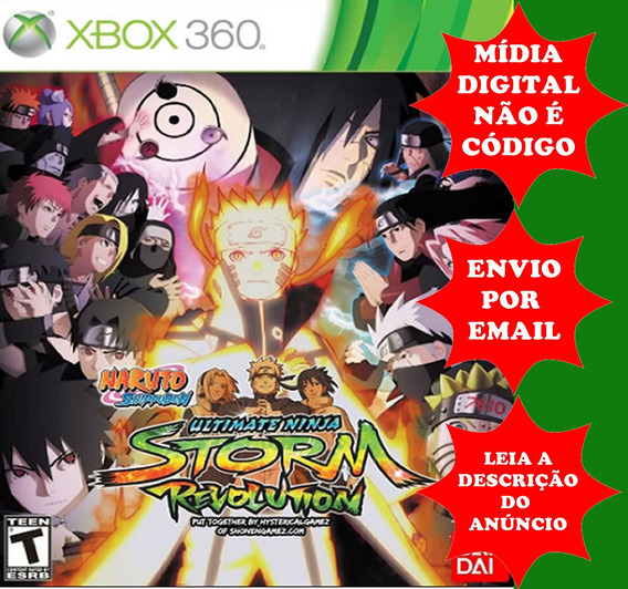 Naruto Storm Revolution Original Midia Digital Xbox 360
