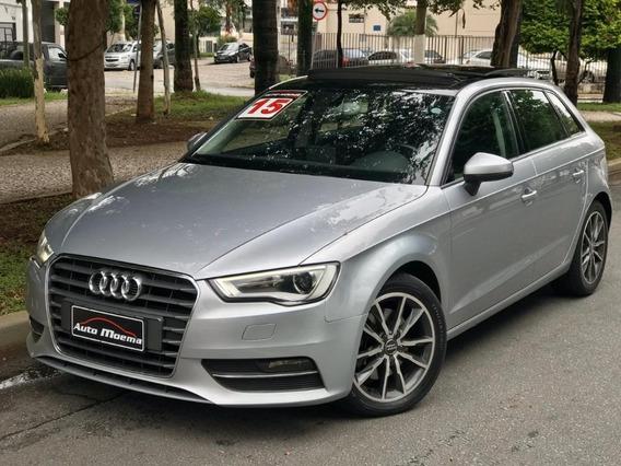 Audi A3 Sportback 2015 Cinza Top De Linha !!!