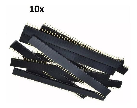 10 Barras Com 40 Pin Head Fêmea Total De 400 Pinhead Arduino