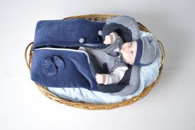 Saída Maternidade Menino Inverno Plush Vermelho E Azul