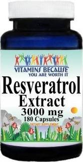 Extracto De Resveratrol 10:1 3000mg X 180 Capsulas