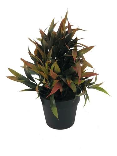 Imagen 1 de 4 de Planta Artificial Maceta Lily Con Pasto 23cm Aprox Interior