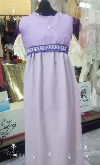 Vestido De Fiesta Para Niña Color Lila, Exclusivo, Talle 8a