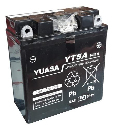 Imagen 1 de 3 de Bateria Yuasa Yt5a Reemplaza Yb5l-b Gel - Sti Motos Full