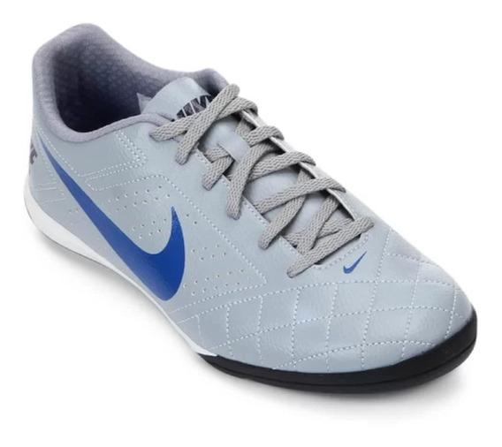 Chuteira Tênis Futsal Nike Beco 2 Unissex Cinza/azul