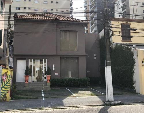 Casa Comercial Para Alugar, 200 M² Por R$ 15.000/mês - Rua Azevedo Sodré - Santos/sp - Ca0655